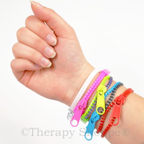 Zippy bracelet fidget sensory toy