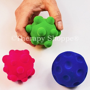 Fuzzi Flocked Tactile Sensory Balls Set