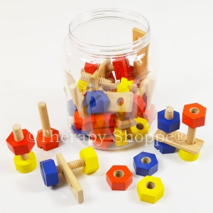 Premium Wooden Nuts and Bolts Play Set