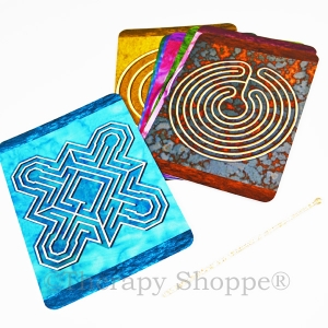 Finger Labyrinth Mandala Cards