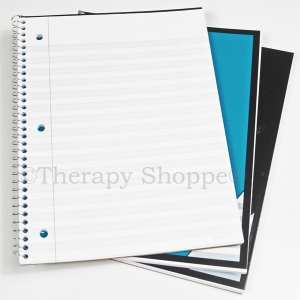 Notebook with Shaded Lines