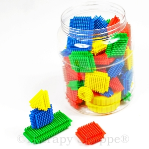 Prickly Tactile Tiles Building Set