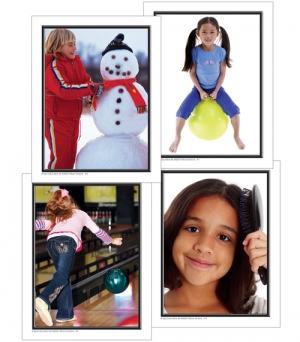 Super Sale More Actions Photographic Learning Cards