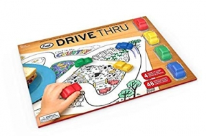 Super Sale Drive Thru Coloring Placemat Set