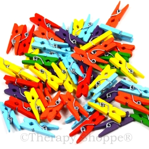 Colored Mini Clothes Pins