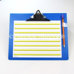 Super Sale Blue Primary Writing Slantboard (with a free pencil clip)