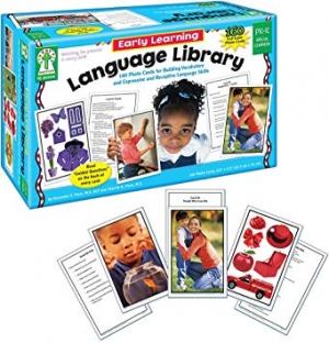 Super Sale Early Learning Language Library Learning Cards Grade PK-K