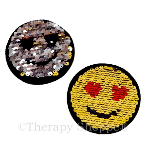 Emoji Sequin Patches 2-pack