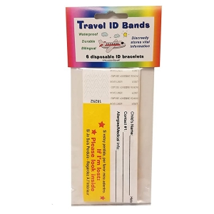 Super Sale Travel ID Bands 6-pk