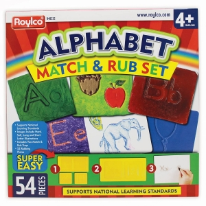 Super Sale Alphabet Match & Rub Set