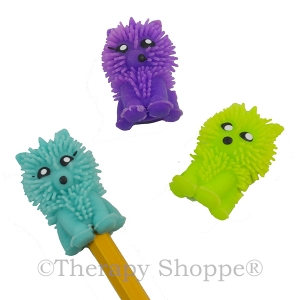 Tactile Critter Pencil Toppers 3-pk