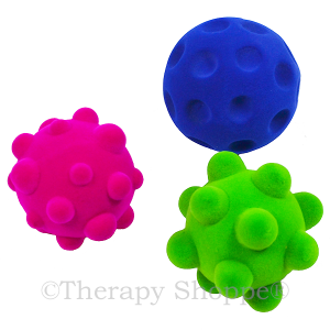 Fuzzi Flocked Tactile Sensory Balls Set